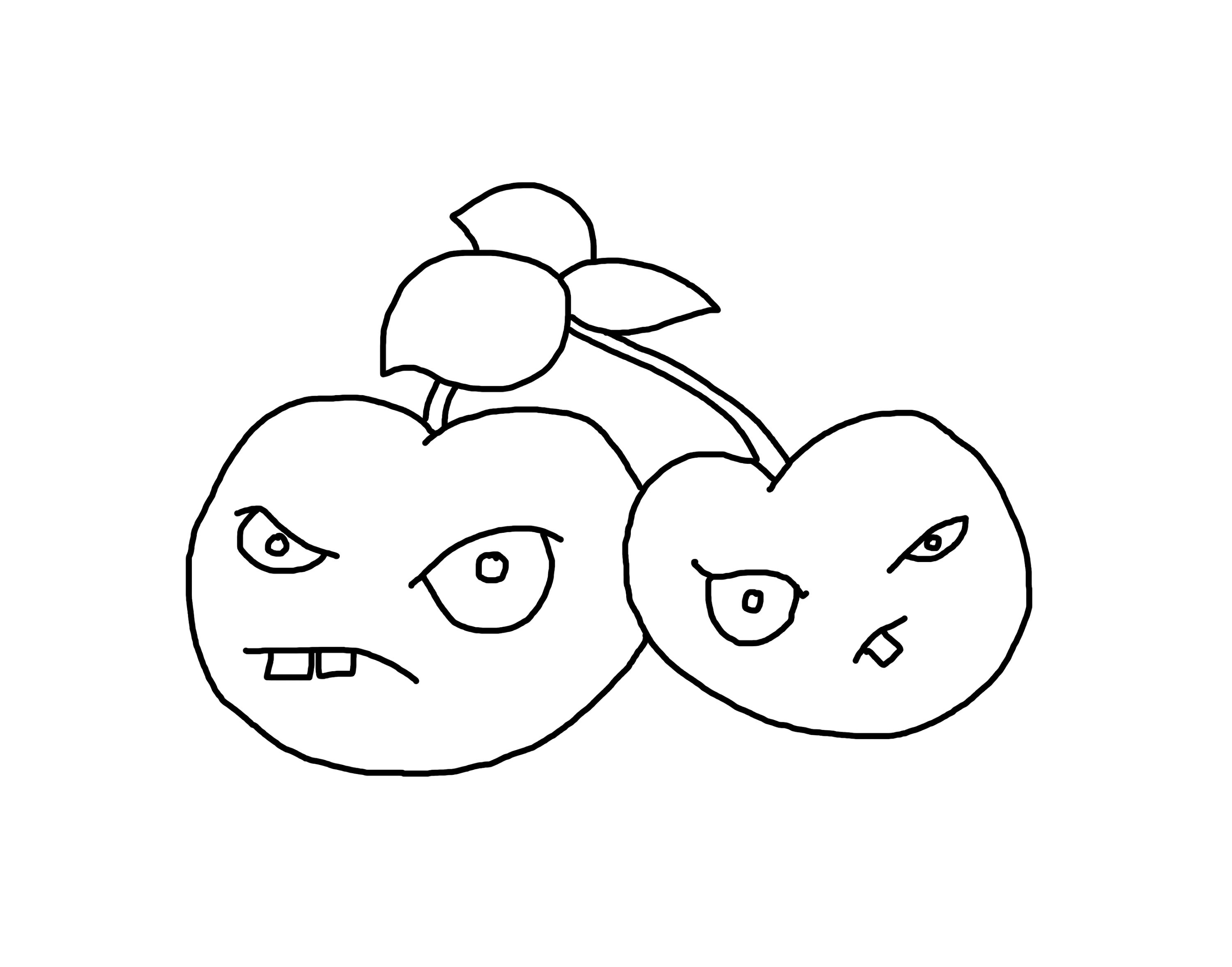 3000x2354 Cherry Bomb Plants Vs Zombies 2 How To Draw A Easy