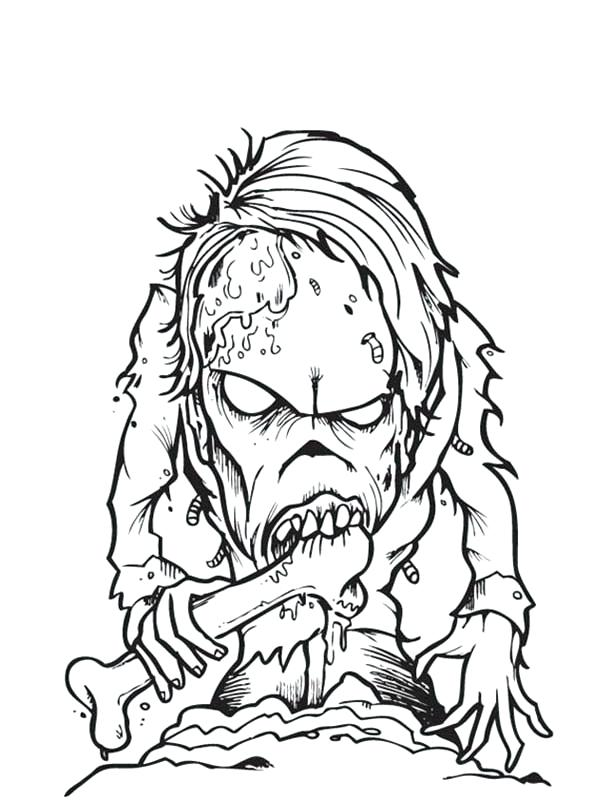 600x801 Beautiful Free Printable Zombie Coloring Pages Online Zombies