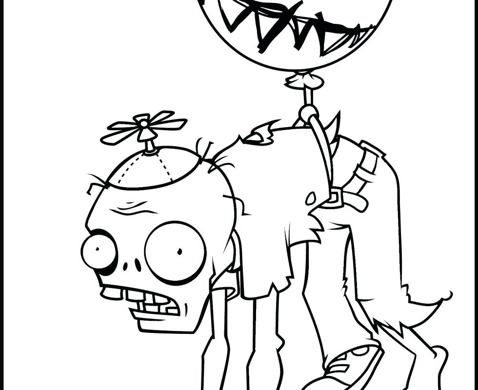 980x800 Zombie Printable Coloring Pages Plants Vs Zombies Coloring Pages