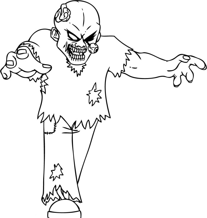 700x737 Coloring Pages Glamorous Halloween Coloring Pages Zombie