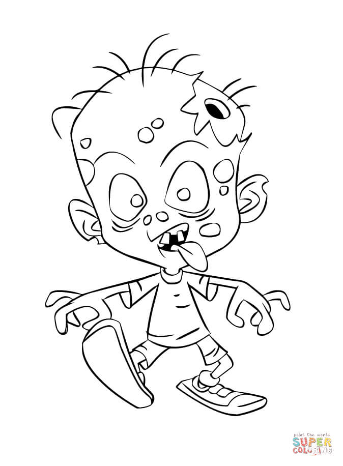 674x916 Zombie Coloring Page Free Printable Coloring Pages