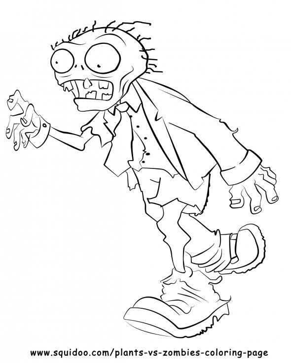 590x737 Plants Vs Zombies Coloring Pages For Kids