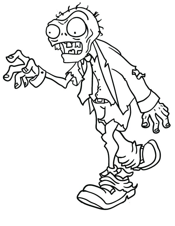 600x776 Coloring Pages For Kid Zombie Printable Coloring Pages Coloring