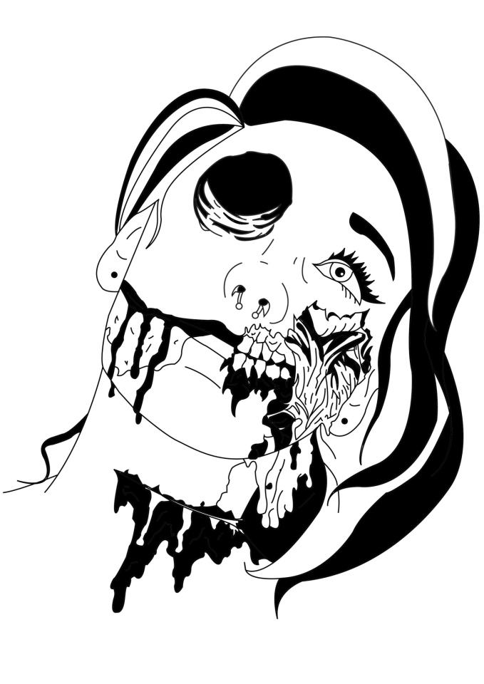 zombie girl drawing at getdrawings free for personal use Radioactive Suit 679x960 zombie girl alice by innocently twisted