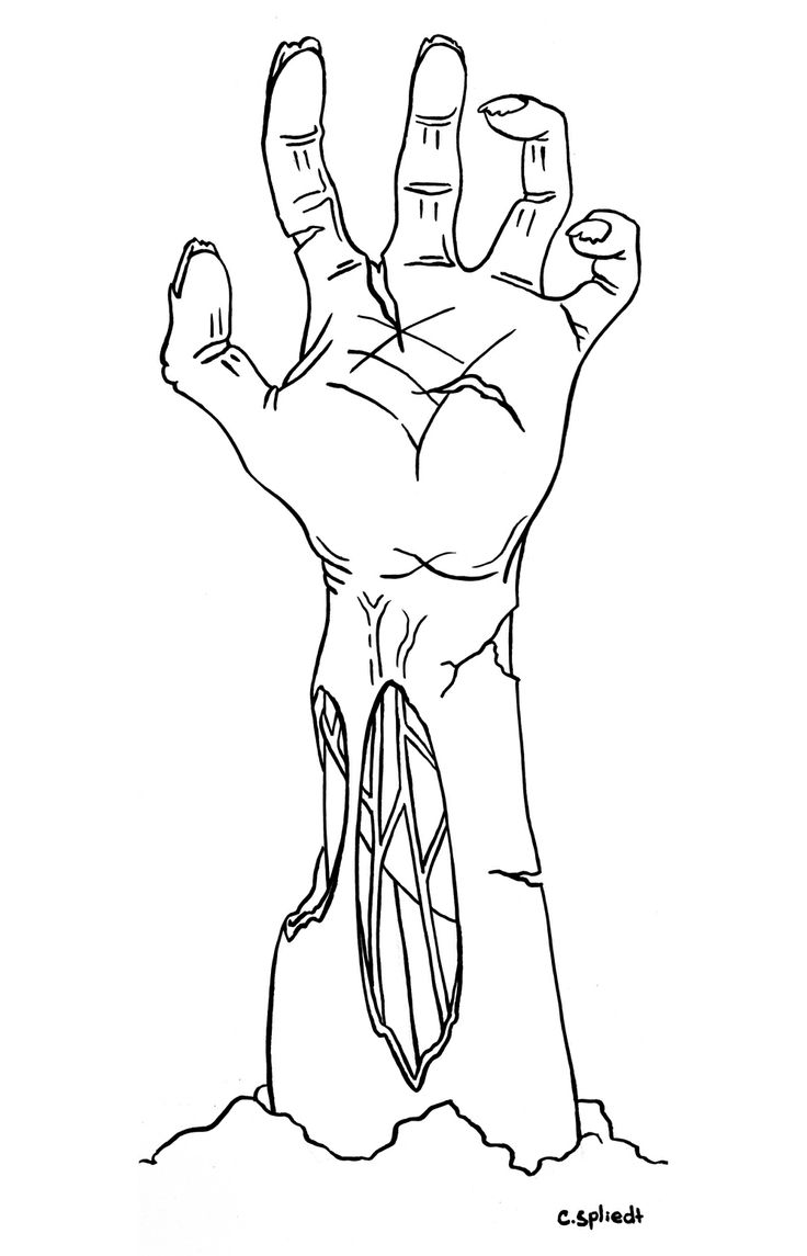 Zombie Hand Drawing