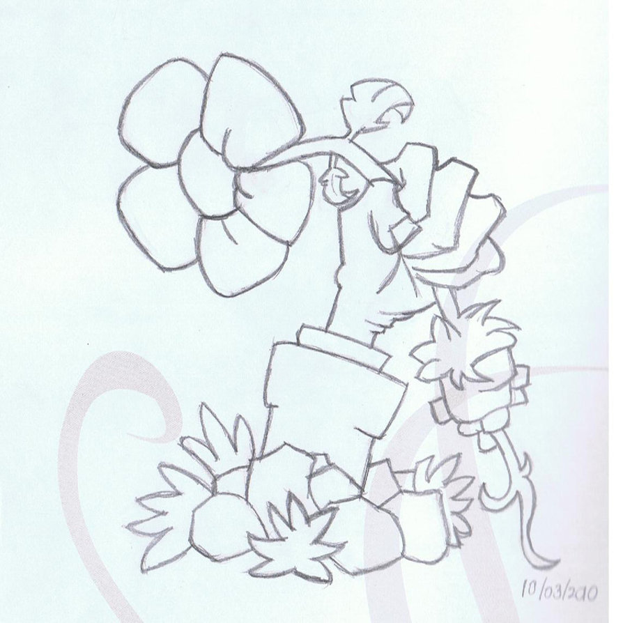 894x894 Pvz Zombie Hand With Flower By Eirayuki