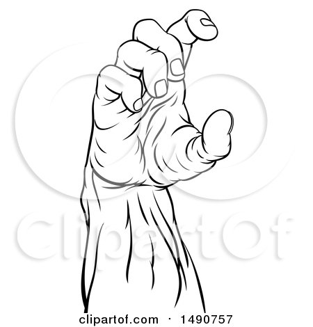 450x470 Royalty Free (Rf) Clipart Of Zombie Hands, Illustrations, Vector