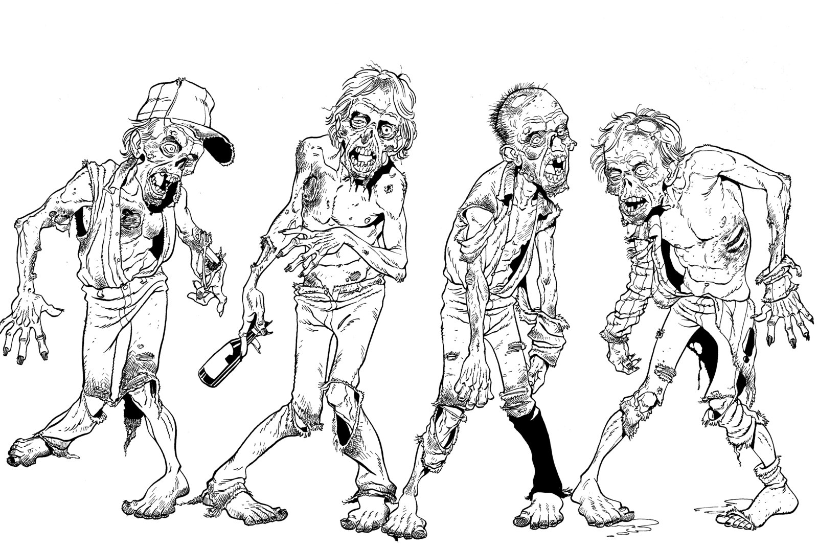 1600x1074 Zombies By Angryrooster