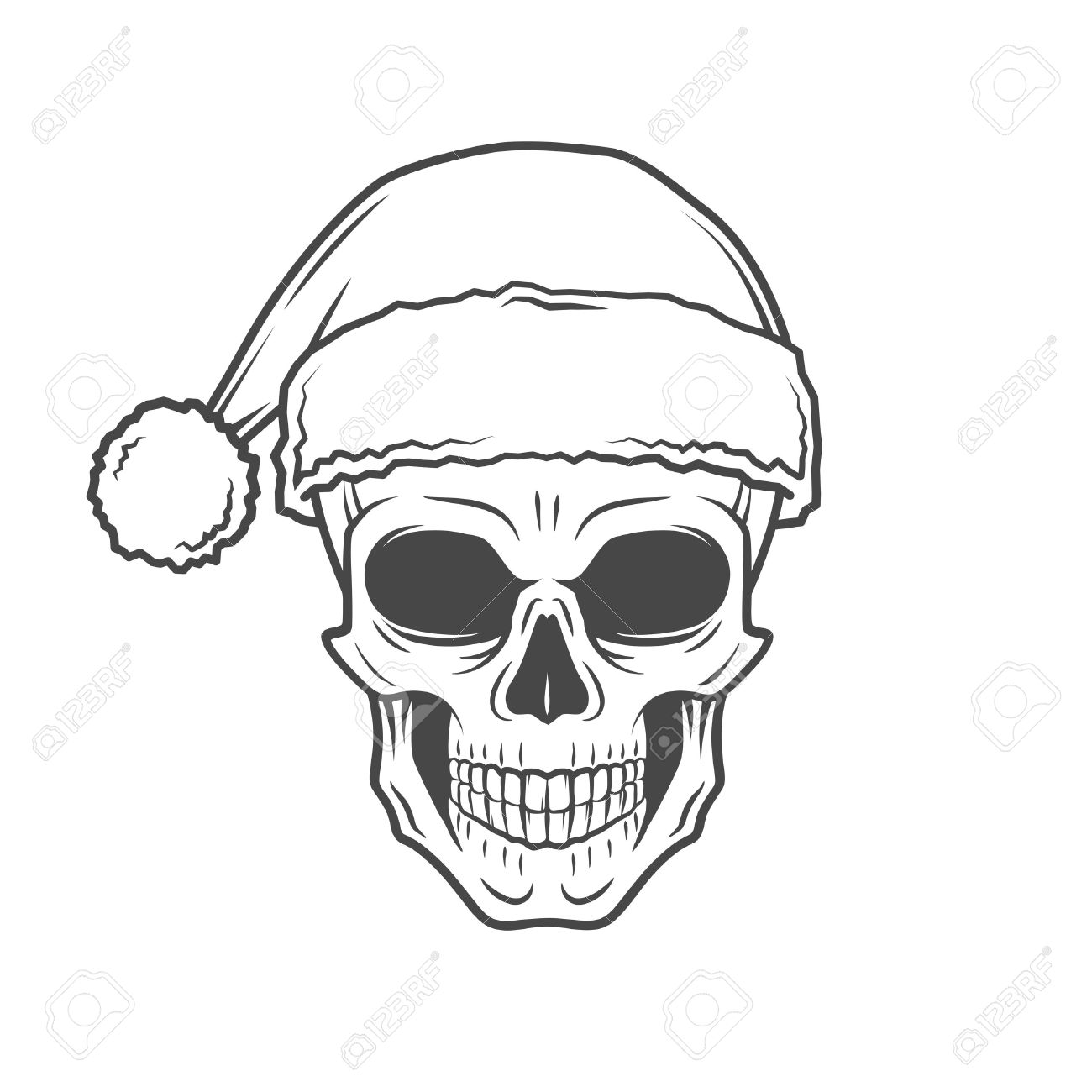 1300x1300 117 Santa Zombie Stock Illustrations, Cliparts And Royalty Free