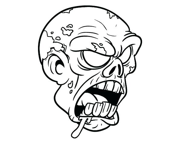 600x470 Cool Zombie Coloring Pages