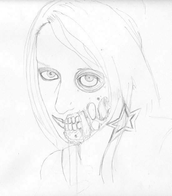 550x628 How To Draw A Zombie [Video]