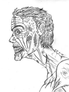236x314 Zombie Head Drawing Zombie Mouth Drawing How To Draw A Zombie