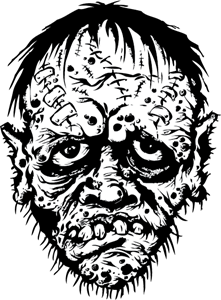 221x300 Zombie Logo Vector (.eps) Free Download