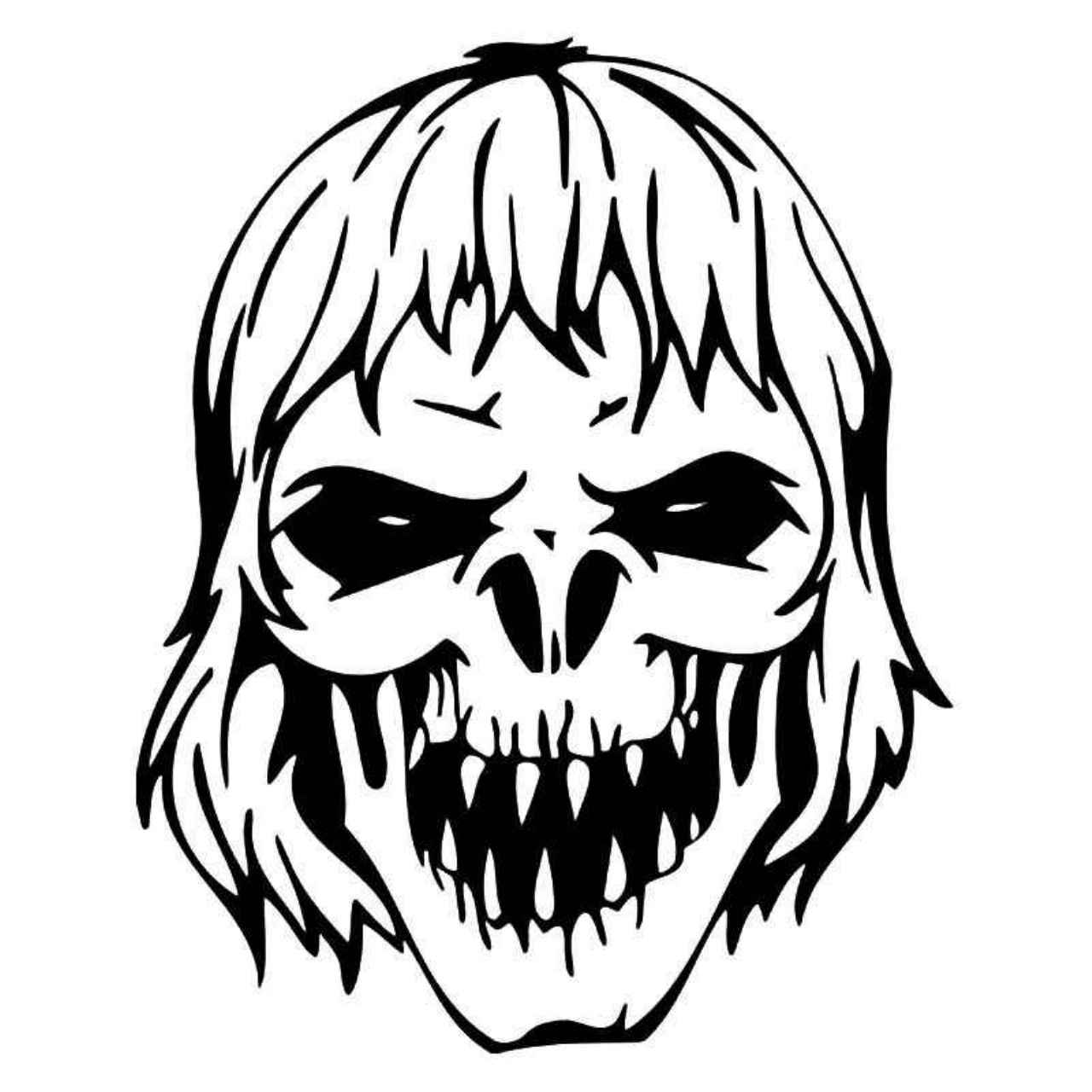 1280x1280 Zombie Skull Vinyl Decal Sticker Adhesive