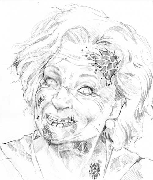 500x587 Betty White Zombie