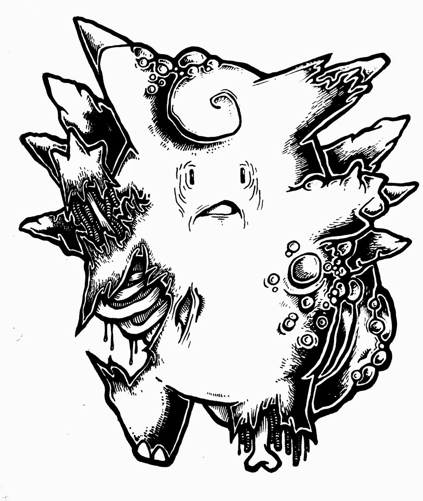 1350x1600 New Zombie Pokemon Works In Progress Daryl Hobson Artwork