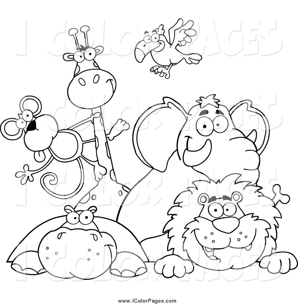 1024x1044 Best Zoo Animal Coloring Pages Image Unknown Resolutions High