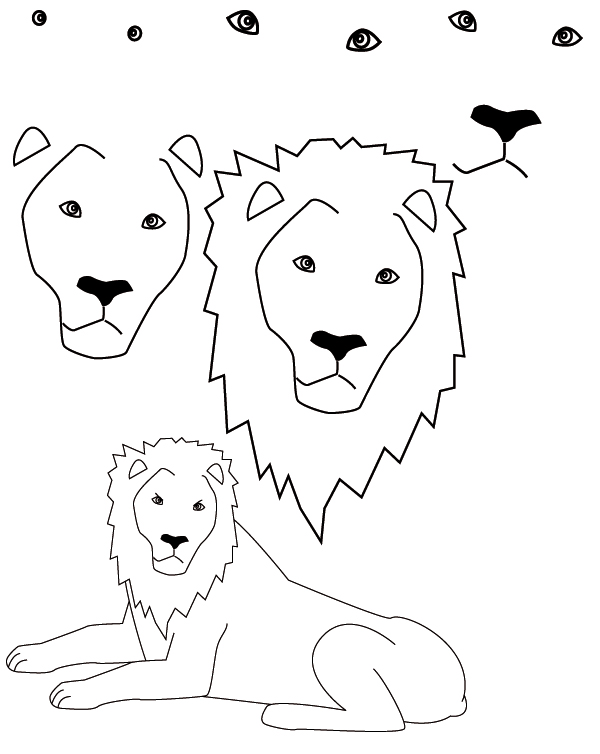 600x754 Drawing Lion