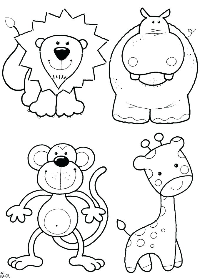 687x944 Zoo Animals Coloring Book Plus Zoo Coloring Book 9 86