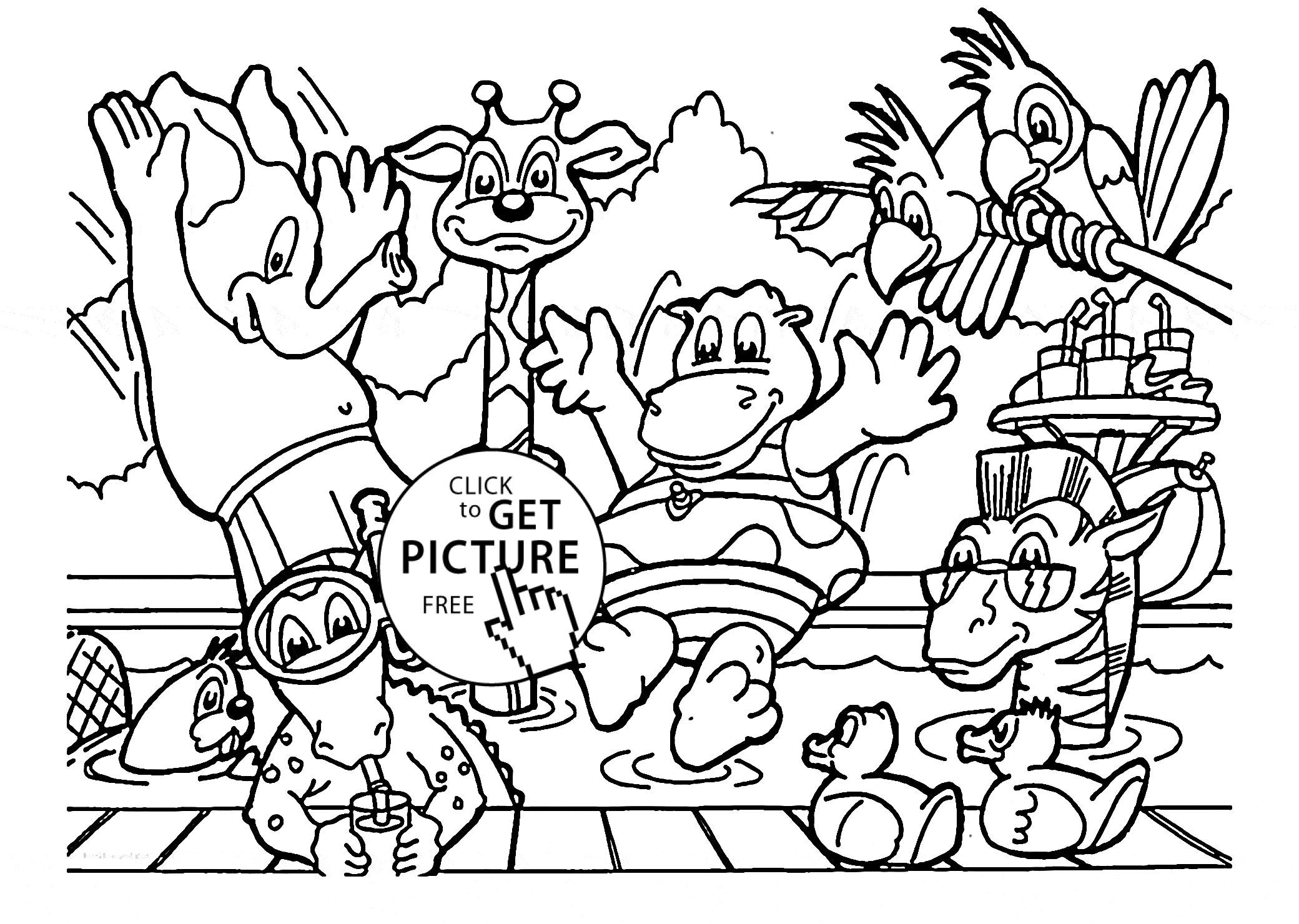 2080x1480 Coloring Coloring Book Pages Zoo Animals Remarkable Photo
