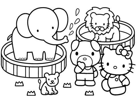 480x343 Hello Kitty Zoo Coloring Page Free Printable Coloring Pages