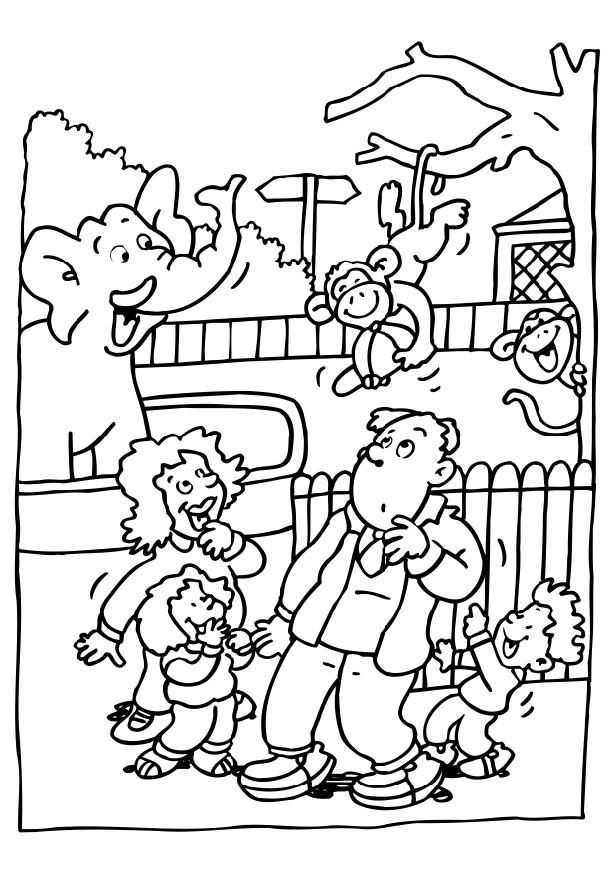 616x872 Zoo For Preschoolers Coloring Page Free Download