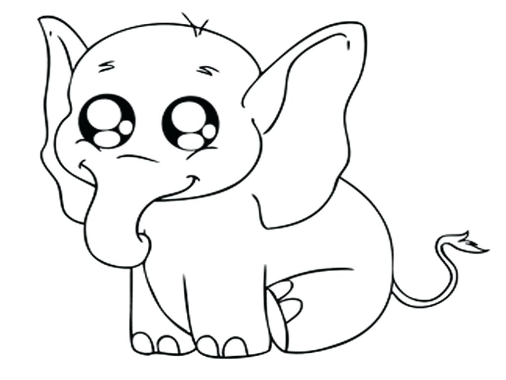 1024x768 Coloring Baby Zoo Animal Coloring Pages Preschool Elephant