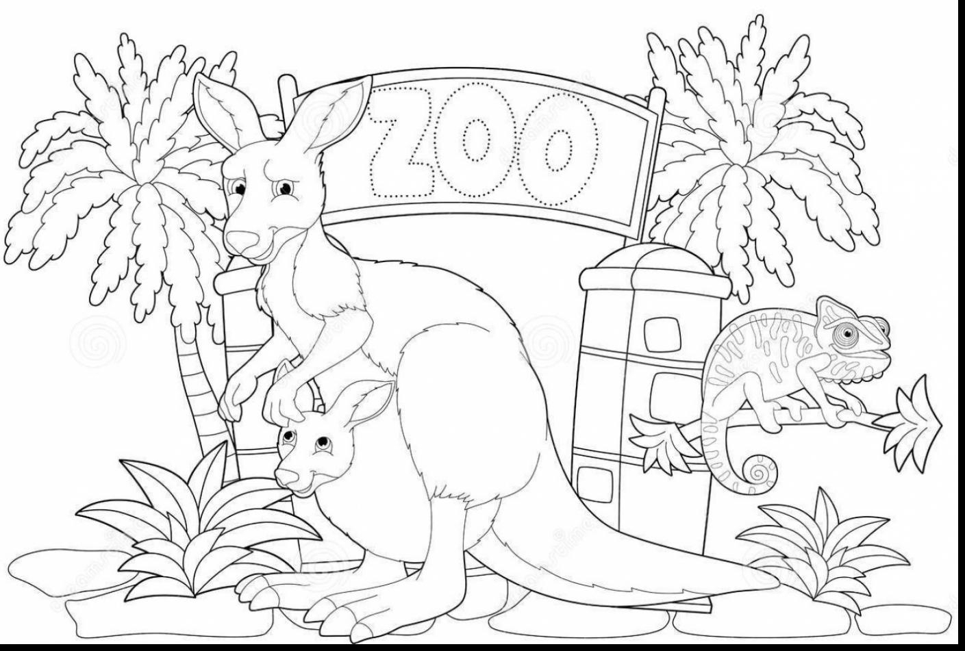 1409x951 Drawing Of Zoo For Kids Zoo Drawing For Children Zoo Animals