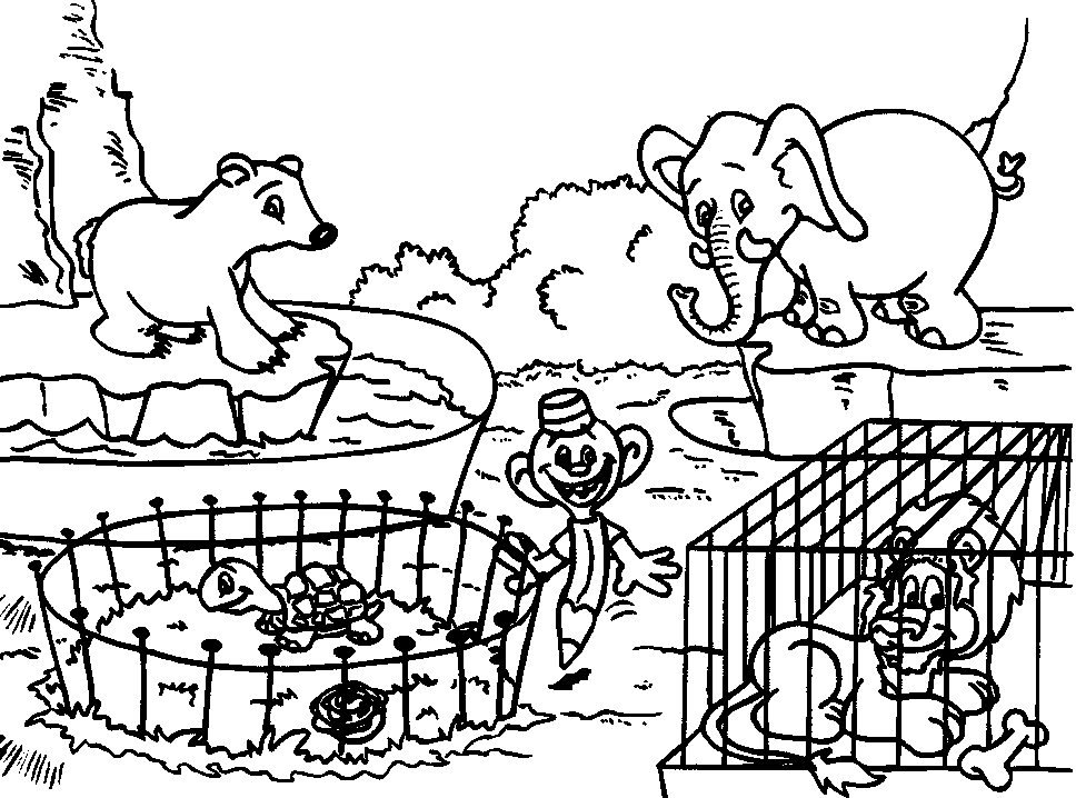 968x718 Animal Coloring Pictures For Kids Zoo Coloring Pages For Kids