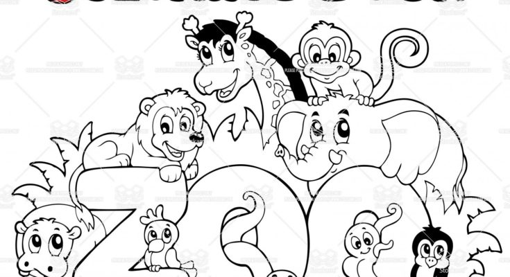 735x400 Animal Coloring Zoo Animal Coloring Page Kindergarten Zoo Animals