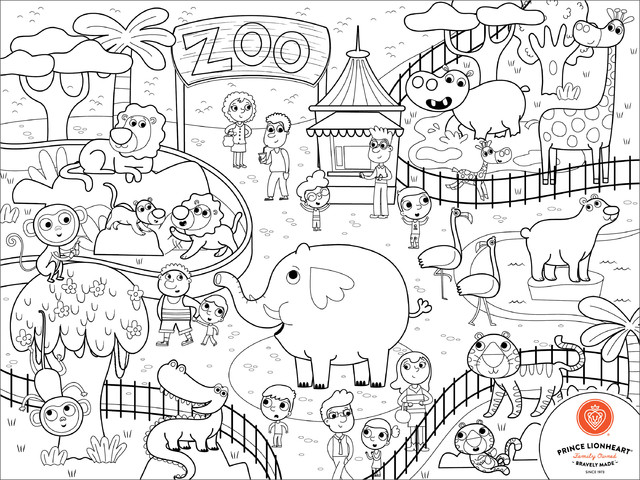 640x480 Zoo Drawing For Kids