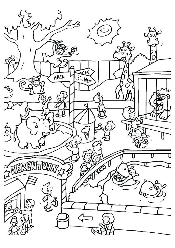 595x842 Best Zoo Coloring Page Online Pages For Kids Animal Animals