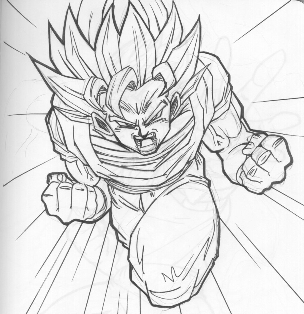 1024x1059 Son Goku Zoom By Guerotheartist