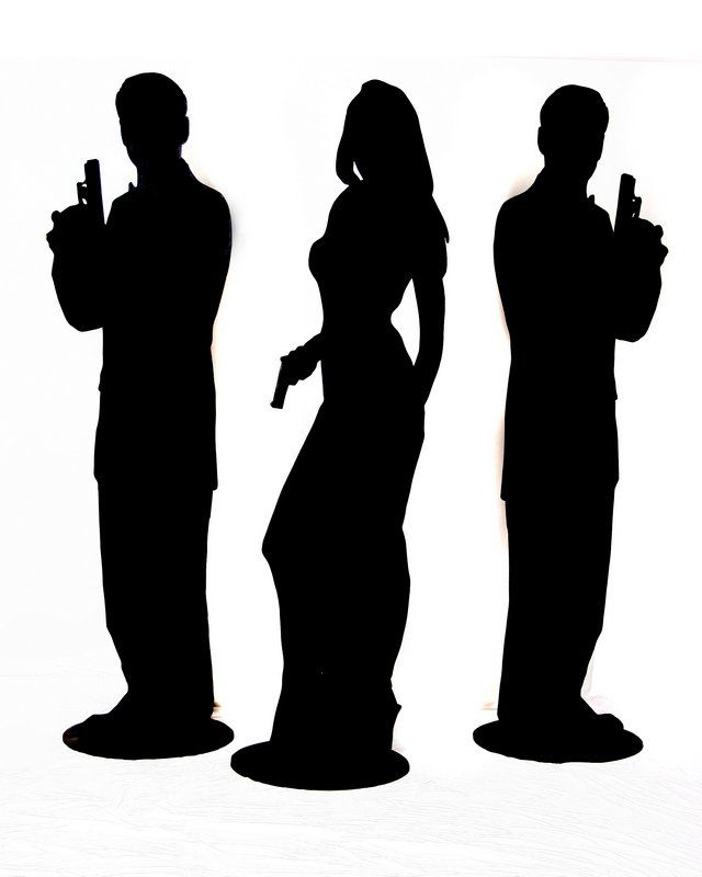 640x800 Secret Agent Silhouette James Bond