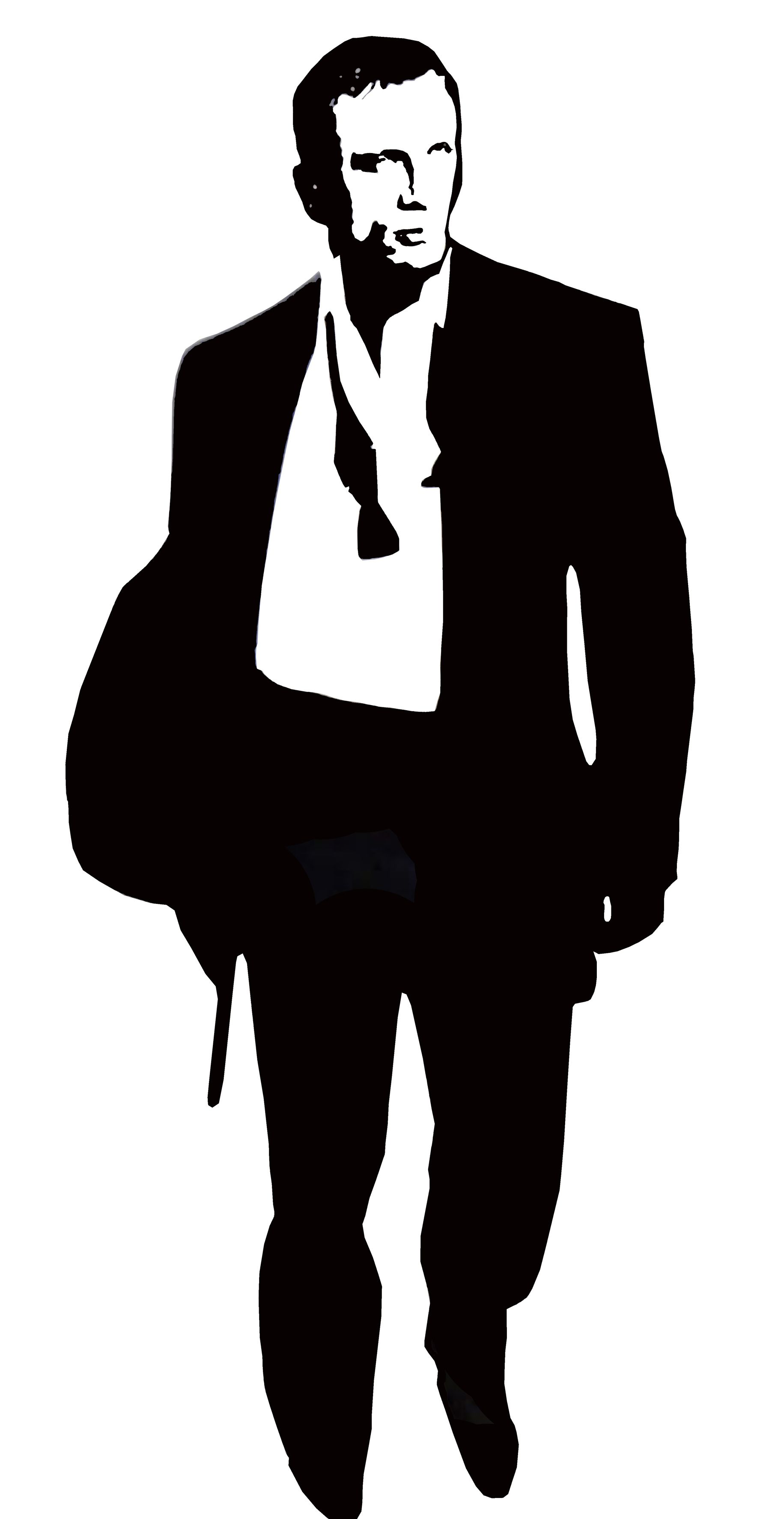 1831x3544 James Bond Silhouette