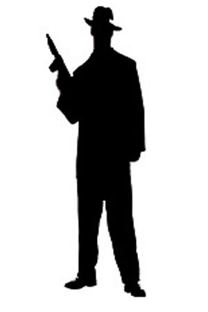 300x450 Large Gangster Prohibition Silhouette 2.jpg Pixels