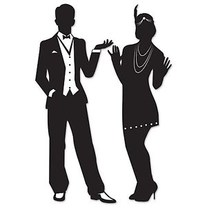 300x300 Pack Of 2 Great 20's Silhouettes