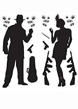 253x355 Gangster Scene Setter 1920s Party Decoration Amazon.co.uk Toys