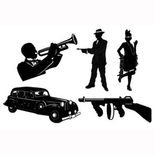 500x500 Gangster Silhouettes