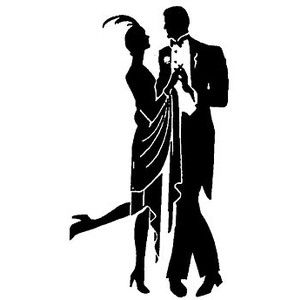1920s Silhouette Couple