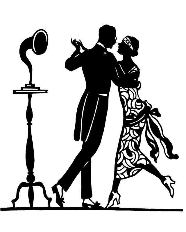 640x800 Handmade Papercut Silhouette Dancing Couple M169 Dorian