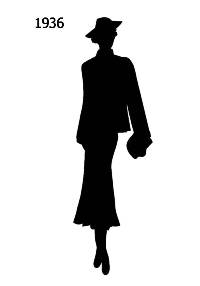 700x1000 1930 To 1940 Free Black Silhouettes In Costume History