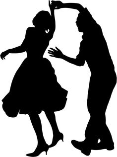236x316 50s Sock Hop Dancers Silhouettes Clipart Homecoming Ideas