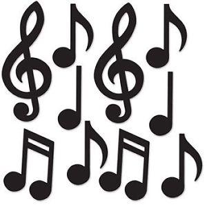 300x300 Mini Musical Notes Silhouette Cutouts 10 Pack Music Dance 1950s
