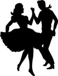 197x255 Pictures 50s Dancing Couple Silhouette,
