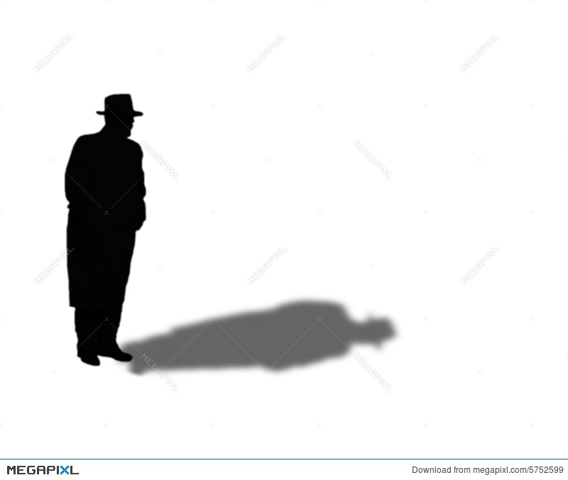 800x677 Silhouette Of Man In Fedora And Overcoat Illustration 5752599
