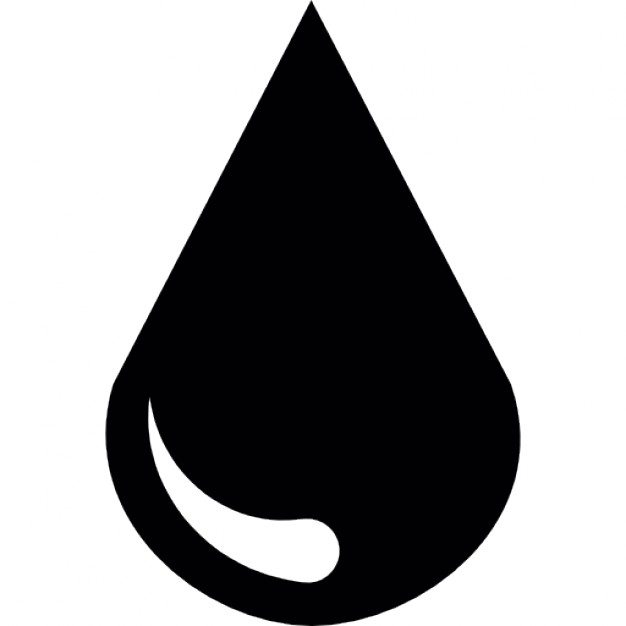 626x626 Water Drop Silhouette Icons Free Download