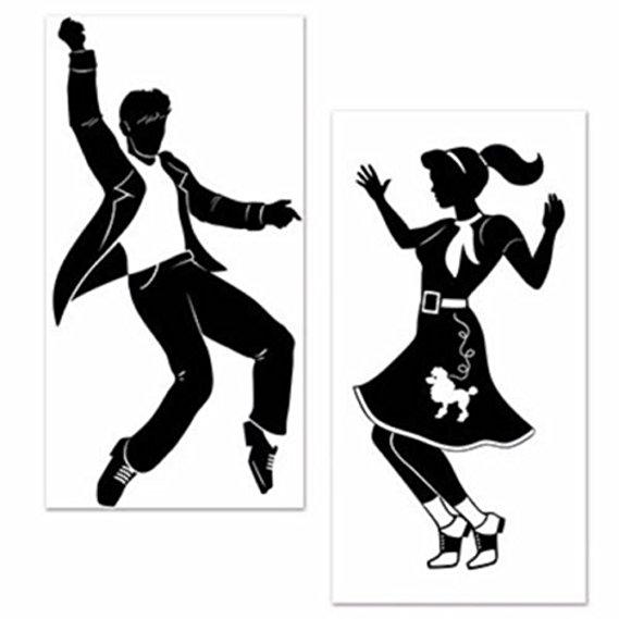 569x569 Large 50's Sock Hop Rock N Roll Elvis Dancers Grease