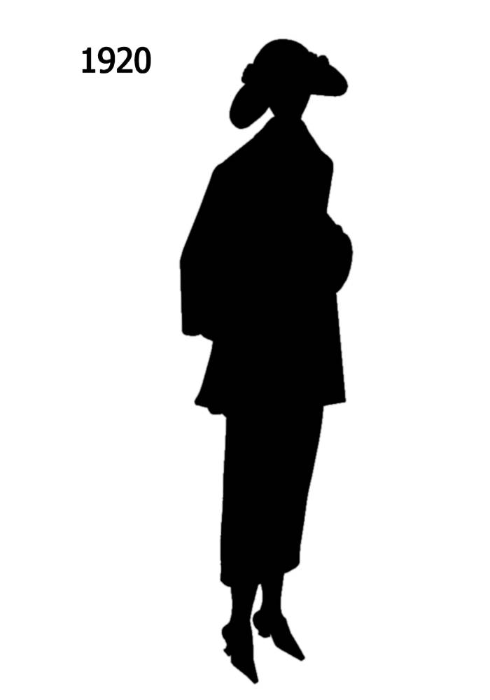 700x1000 Black Silhouettes 1910 1920 In Costume History 2a