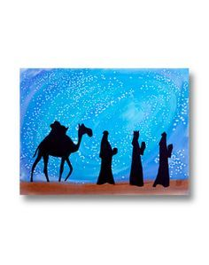 236x299 Three Kings Art = Could Do Nativity Just Takes Watercolors, Salt